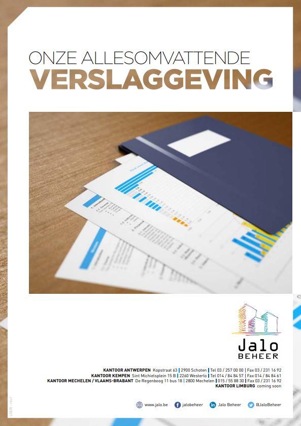 Sluitende verslaggeving - Jalo Beheer