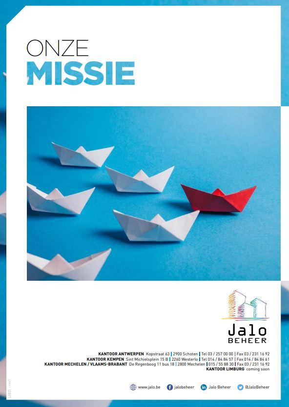 Onze missie - Jalo Beheer